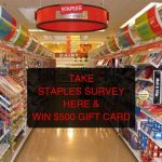 STAPLES SURVEY | WIN $500 GIFT CARD